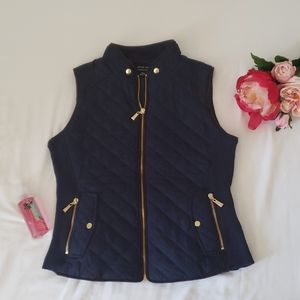 Navy womens winter vest size small